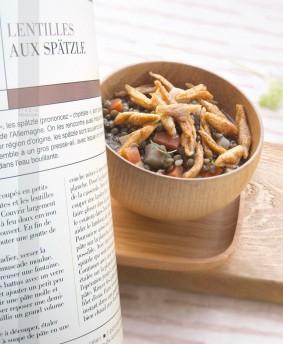 livre photo culinaire LENTILLES aux Spatzle
