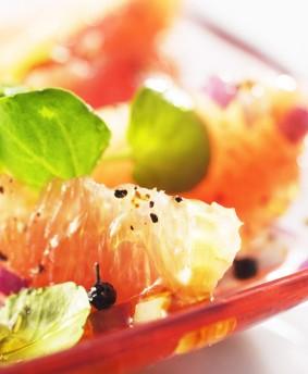 PHOTOGRAPHE CULINAIRE photo de salade de pamplemousse